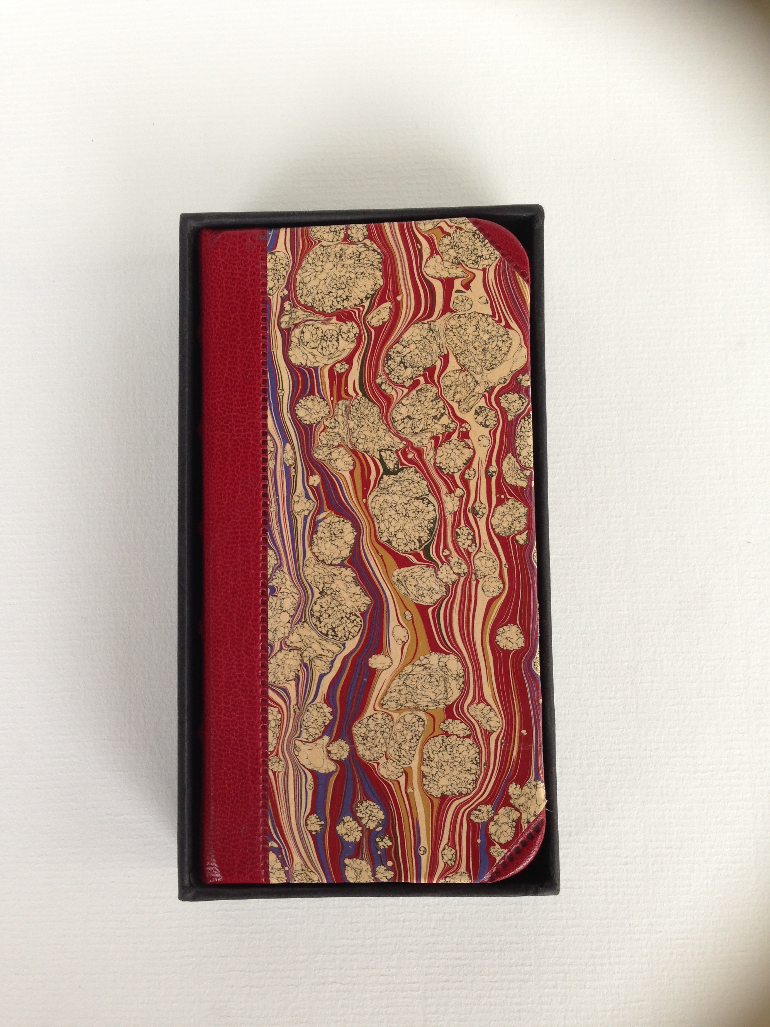 Goat Skin Hand-Marbled iPhone case